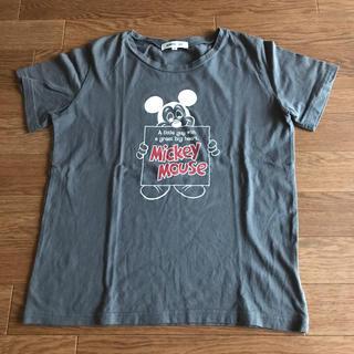ナチュラルビューティーベーシック(NATURAL BEAUTY BASIC)のMickey Mouse ミッキーTシャツ ナチュラルビューティーベーシック(Tシャツ(半袖/袖なし))