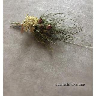 夏に飾る アナベルとニゲラのふんわりと束ねたナチュラル スワッグ ドライフラワー(ドライフラワー)