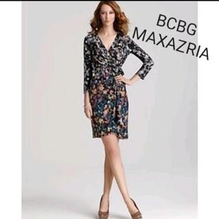 ビーシービージーマックスアズリア(BCBGMAXAZRIA)のBCBGMAXAZRIA マックスアズリア★カシュクール ラップワンピースドレス(ひざ丈ワンピース)