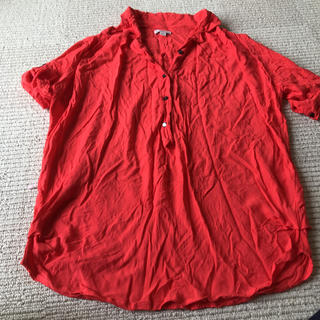 ギャップ(GAP)のGAPレーヨン ビタミンカラーシャツ(シャツ/ブラウス(半袖/袖なし))