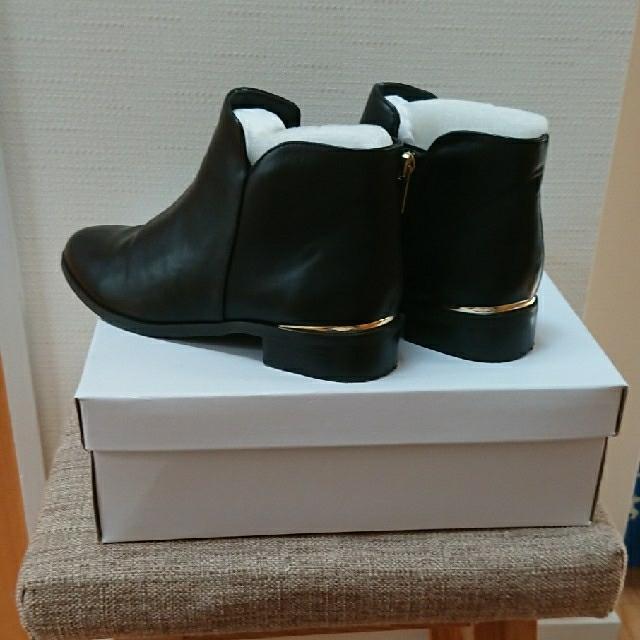 green label relaxing(グリーンレーベルリラクシング)のgreen label relaxing ショートブーツ 黒(交渉可) レディースの靴/シューズ(ブーツ)の商品写真