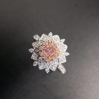 Gia♡0.36カラットピンクダイヤモンド指輪(リング(指輪))