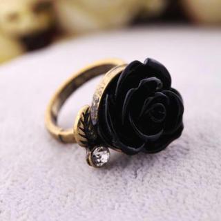 バラモチーフラインストーンリング(リング(指輪))