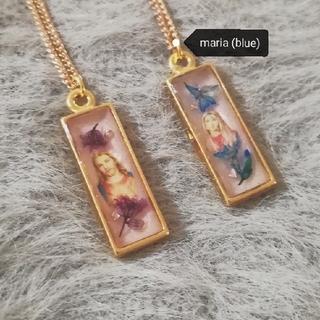 ワンアフターアナザーナイスクラップ(one after another NICE CLAUP)の【SALE】vintage necklace (maria blue)(ネックレス)