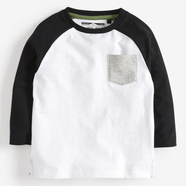 NEXT(ネクスト)の【新品】next カーキ スローガン長袖Tシャツ3枚組(ヤンガー) キッズ/ベビー/マタニティのベビー服(~85cm)(シャツ/カットソー)の商品写真