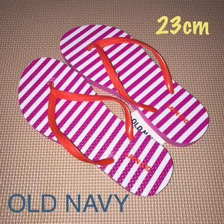 オールドネイビー(Old Navy)の【新品】レディースサンダル ピンク系 23cm(サンダル)