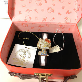ハローキティ(ハローキティ)のハローキティ 40周年記念 スワロフスキー ウォッチ(腕時計)