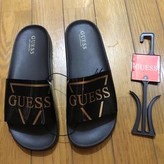 ゲス(GUESS)の海外限定☆LA購入レア ゲス GUESS サンダル ゴールド 黒金 26cm(サンダル)