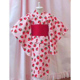 シャーリーテンプル(Shirley Temple)の新品 シャーリーテンプル いちご 浴衣(甚平/浴衣)