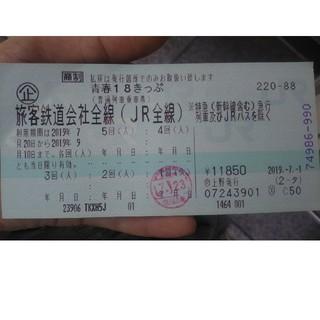 青春18きっぷ  4回券(鉄道乗車券)