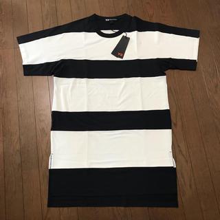 アディダス(adidas)の新品 未使用 Y3 Tシャツ ボーダー 白 黒 S メンズ(Tシャツ/カットソー(半袖/袖なし))