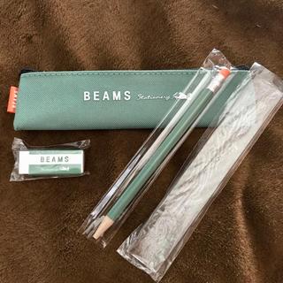 ビームス(BEAMS)のBEAMS 文房具セット(ペンケース、シャープペンシル、消しゴム、定規)(ペンケース/筆箱)