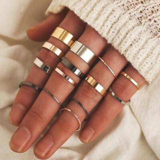 ♡新品♡3色ファッションリング14ピース(リング(指輪))