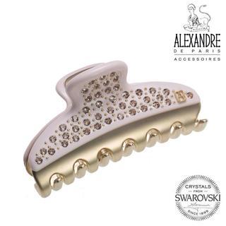 アレクサンドルドゥパリ(Alexandre de Paris)の新品♪ Alexandre de Paris♪vendome全面スワロクリップ桜(バレッタ/ヘアクリップ)