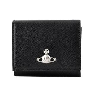ヴィヴィアンウエストウッド(Vivienne Westwood)のヴィヴィアン ウエストウッド 52010006 BLACK二つ折り財布 正規品(財布)