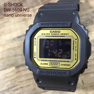カシオ(CASIO)のG-SHOCK DW-5600 NU ナノユニバース ブラウン・ゴールド限定レア(腕時計(デジタル))