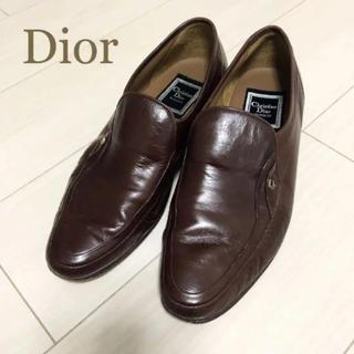 クリスチャンディオール(Christian Dior)の美品!クリスチャンディオール 25.0 本革 日本製 ブラウン ロゴ 革靴(ドレス/ビジネス)