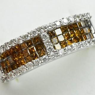 K18WG 合計 1.00ct ダイヤモンドリング 12号 指輪  (リング(指輪))