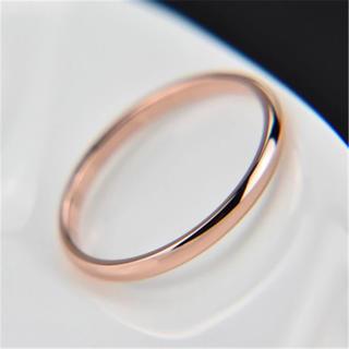 【シンプル‼︎】チタンステンレス ピンクゴールド 【即決可能】(リング(指輪))