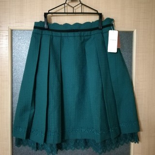 アクシーズファム(axes femme)のaxes femme ウエストスカラップスカート Lサイズ タグ付き(ひざ丈スカート)