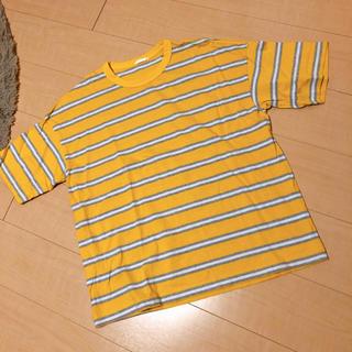 ジーユー(GU)のGU ビッグシルエット ボーダーTシャツ(Tシャツ(半袖/袖なし))