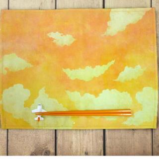 【新品】プレイスマットセット 夕焼け空の飛行機(テーブル用品)