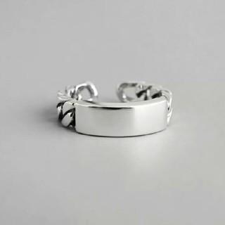 フィリップオーディベール(Philippe Audibert)のimpor silver 925 vintage plate ring #195(リング(指輪))