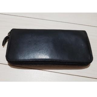 ムジルシリョウヒン(MUJI (無印良品))の長財布|無印良品(MUJI)|黒レザー本皮(長財布)