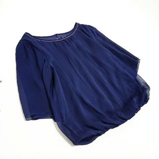 ニジュウサンク(23区)の23区 *美品 裾バルーンブラウス*(シャツ/ブラウス(半袖/袖なし))