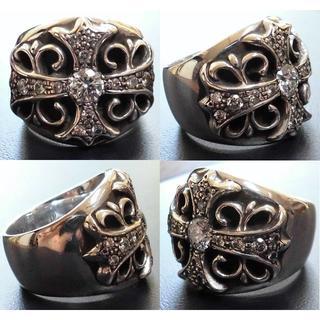 クロムハーツ(Chrome Hearts)のクロムハーツ/キーパーリング/ダイヤパヴェ17石/インボイス、ダイヤ鑑別書付(リング(指輪))