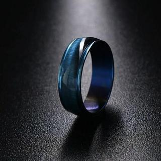 ブルーメタルリング レジン 単品(リング(指輪))