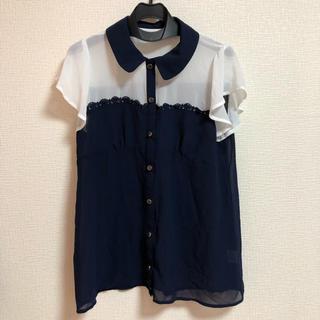シマムラ(しまむら)のバイカラーシャツ(シャツ/ブラウス(半袖/袖なし))