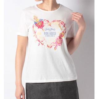 セーラームーン(セーラームーン)のピンクハウス セーラームーン メイクアップリボンプリントTシャツ 伊勢丹 コラボ(Tシャツ(半袖/袖なし))