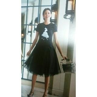 エムズグレイシー(M'S GRACY)の♡2018カタログ掲載♡人気のレディなバレリーナTシャツ(Tシャツ(半袖/袖なし))