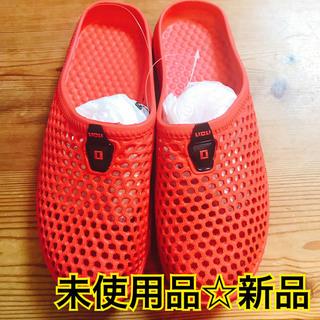 【未使用品☆美品】Licli メッシュサンダル 男女兼用 サイズ 25cm 赤(サンダル)