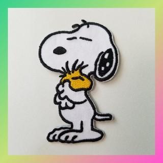 スヌーピー(SNOOPY)のキャラクター 刺繍 ワッペン ピーナッツ スヌーピー(ハグ)(各種パーツ)