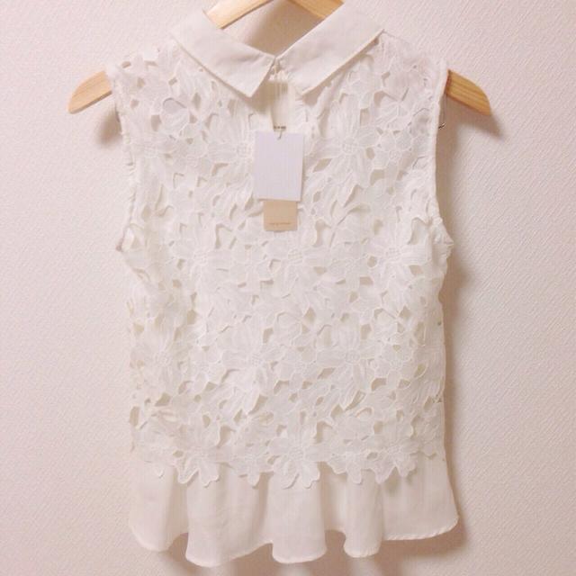 mysty woman(ミスティウーマン)のmysty woman 襟付きシャツ レディースのトップス(Tシャツ(半袖/袖なし))の商品写真