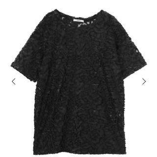 ムルーア(MURUA)のカットジャガードチュニック MURUA(シャツ/ブラウス(半袖/袖なし))