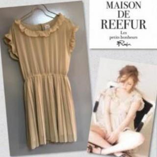 メゾンドリーファー(Maison de Reefur)の梨花さん着用♡ドット柄プリーツワンピース(ミニワンピース)