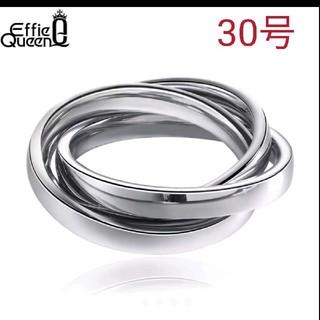 《新品》値下げ❗️海外 30号 3連 リング シルバー(リング(指輪))