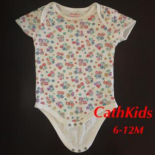 キャスキッドソン(Cath Kidston)のキャスキッドソン 半袖 肌着 ロンパース  6-12ヶ月 花柄(ロンパース)