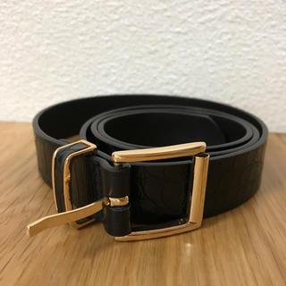 エイチアンドエム(H&M)のH&M 2.5センチ幅 中細ベルト 黒 Sサイズ(ベルト)
