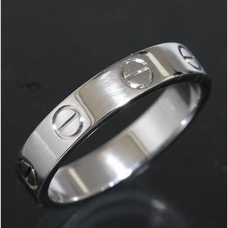 カルティエ(Cartier)のカルティエ cartier ミニラブ リング size50 K18WG 新品仕上(リング(指輪))