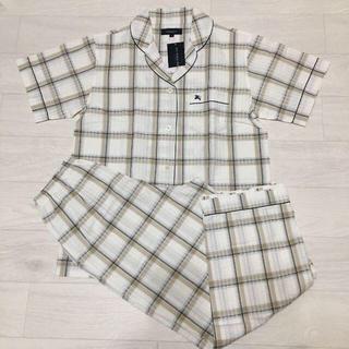 BURBERRY - バーバリー 定価14700円 パジャマ 半袖長ズボン チェック L ベージュ