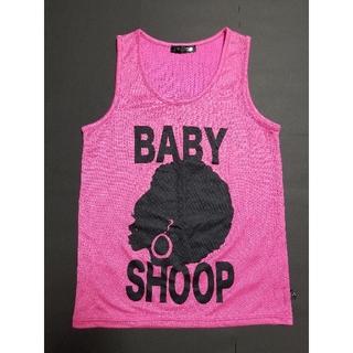 ベイビーシュープ(baby shoop)のアフロちゃんロゴプリントタンクトップ(タンクトップ)