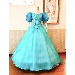 ディズニー(Disney)の❁Dハロ❁リトルマーメイド❁アリエル グリーンドレス風デラックス衣装❁新品(その他ドレス)