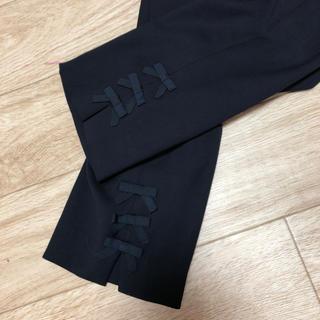 ギャラリービスコンティ(GALLERY VISCONTI)のグログランテープリボンつきパンツ サイズ2 ギャラリービスコンティ 新品(カジュアルパンツ)