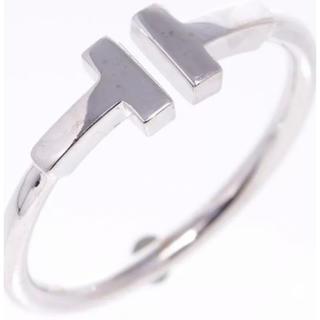 ティファニー(Tiffany & Co.)のティファニー Tデザインリング指輪750WG#55(リング(指輪))