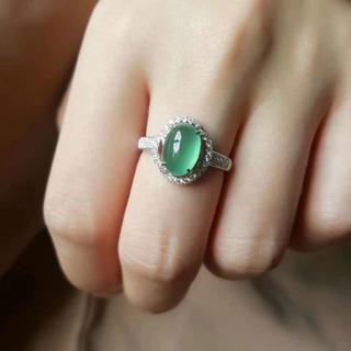 329 k18金リング ゴールド ハット 翡翠リング ダイヤモンドリング 指輪(リング(指輪))