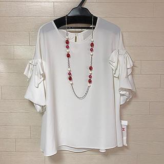 ギャラリービスコンティ(GALLERY VISCONTI)の袖リボンバルーンブラウス サイズ2 ギャラリービスコンティ 新品(シャツ/ブラウス(長袖/七分))